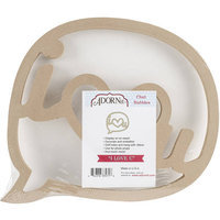 Adorn-it Art Play MDF Chat Bubble Plaque 10