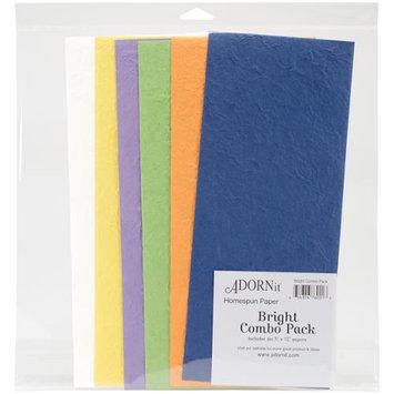 Adorn-it Homespun Handmade Papers Combo Pack 6