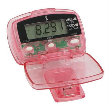 Sportline 193103 Living Pink- Digital Step, Calorie & Distance Pedometer
