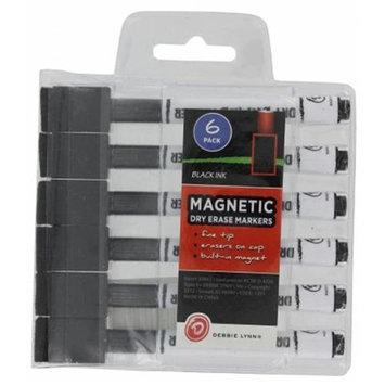 Debbie Lynn Black Dry Erase Marker 6 Count