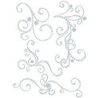 Say It In Crystals Adhesive Swirls 8.5