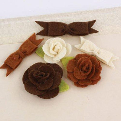 Prima Flowers MARC-57744 Marcelle Fabric Flowers and Bows 1.25 in. To 2 in. 3 Each-Orchestra