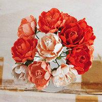 Prima Flowers Serenade Handmade Paper Flowers 1 12/Pkg-Orange
