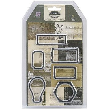 Prima Marketing Engraver Newsprint Decorative Frames, 6/Pkg