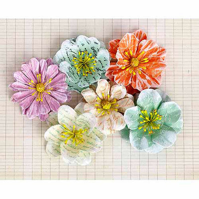 Prima Marketing Labelle Paper Flowers, 6pk