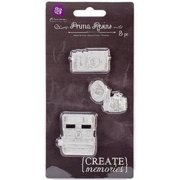 Prima Marketing Resin Embellishments-Cameras 3/Pkg