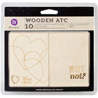 Prima Marketing Wooden ATC Cards 10/Pkg-These Days