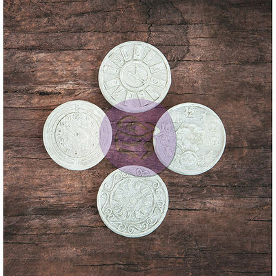 Prima Marketing Resin Icon Embellishments-Chalk Black Gears 12/Pkg