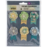 Prima Marketing FREFLR-74239 Free Spirit Flowers-Paper Outta Sight 2.25 in. with Banner 6-Pkg