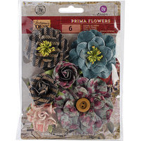 Prima Marketing STAFLR-75373 Stationers Desk Flowers-Paper Transcribe 3 in. with Leaf 5-Pkg