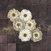 Prima Marketing Capri Paper & Fabric Flowers-Merlot 2