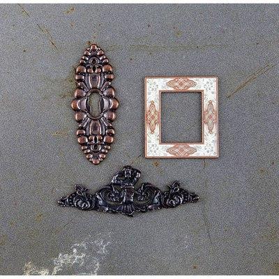 Prima Marketing Timeless Memories Metal Trinkets-Reminisce Alphas