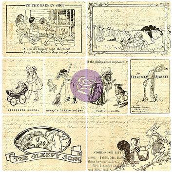 Prima Marketing EVPBL-13680 Everyday Vintage Pocket Paintables Cards 16-Pkg-Chalk ATC