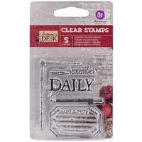 Prima Marketing 814007 Stationers Desk Clear Stamps 2.5 in. X3 in. -No. 1 Daily