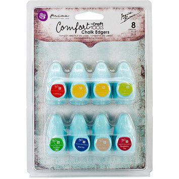 Prima Marketing Chalk Fluid Edger Pad 8pc Set-Ladybug & Coltsfoot Petals