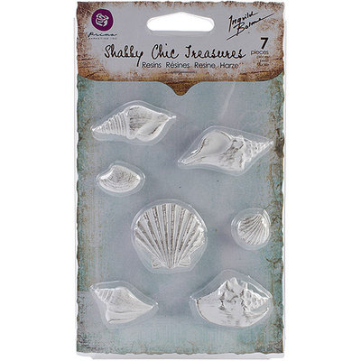 Prima Marketing Shabby Chic Treasures Resin Embellishments-Foyer 3/Pkg