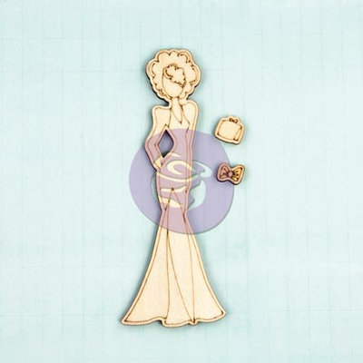 Prima Marketing DOLLWD-10617 Mixed Media Laser Cut Wood Doll Shapes-Morgan 3 Pieces To 2.25 in. X6 in.