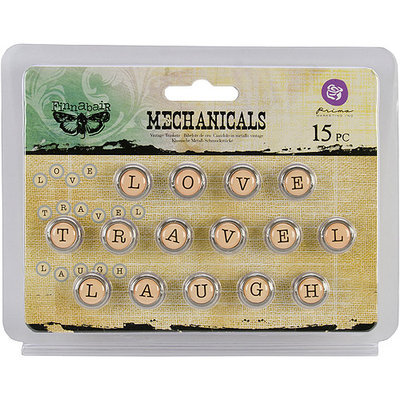 Prima Marketing, Inc. Mechanicals Metal Embellishments Words #1 Love, Travel & Laugh