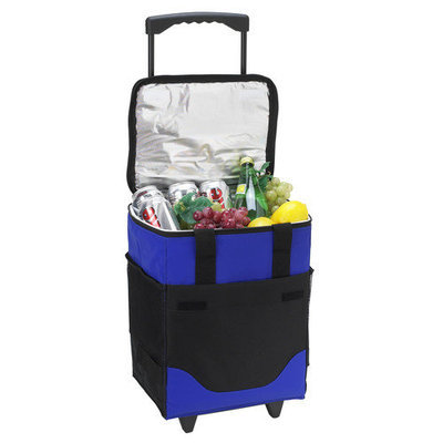 Picnic at Ascot 32-can Collapsible Rolling Cooler, Royal Blue