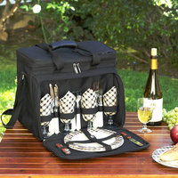 Picnic at Ascot London Picnic Cooler for Four, Black