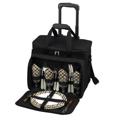 Picnic At Ascot London Picnic Cooler for Four with Wheels