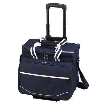 Picnic At Ascot Bold Picnic Cooler for Four with Wheels
