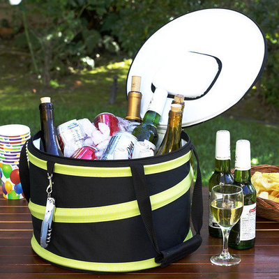 Picnic at Ascot Compact Pop-Up Cooler, Black/Grey