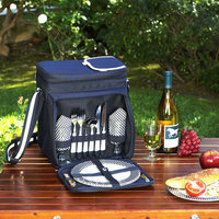 Picnic at Ascot - Bold Picnic Cooler for Two - Navy/White