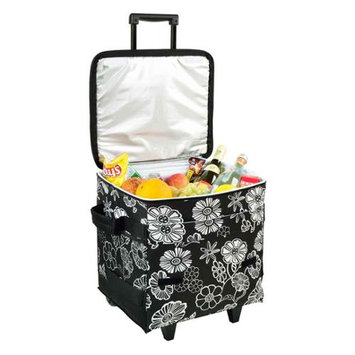 Picnic at Ascot Night Bloom 60-Can Collapsible Rolling Cooler
