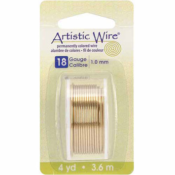 Artistic Wire Beading 18 gauge NON-TARNISH BRASS Wrapping 4 yds 12ft 42727