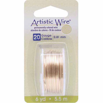 Artistic Wire Dispenser 6 Yards/Pkg-Brass 20 Gauge