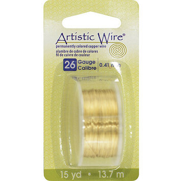 Artistic Wire 26AWG-NTB Colored Wire 26 Gauge 15 Yards/Pkg