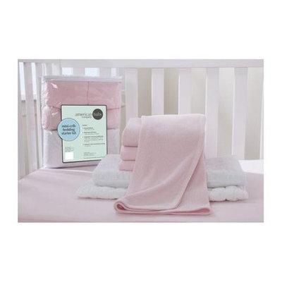 American Baby Company Portable/Mini Starter 6 Piece Crib Bedding Set Color: Pink