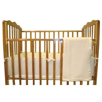 American Baby Company 3-Piece Cotton Percale Porta-Crib Set, Ecru