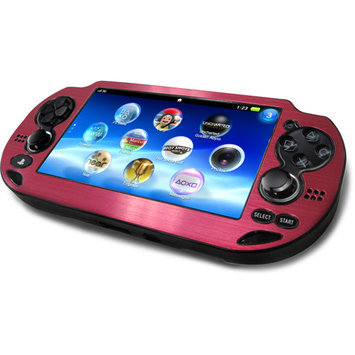 CTA Digital Metallic Pink Faceplate Plastic Case for PS Vita