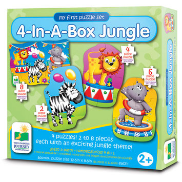 The Learning Journey Step Ups 4-In-A-Box Puzzle - Jungle