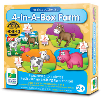 The Learning Journey Step Ups 4-In-A-Box Puzzle - Farm