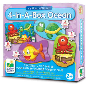 The Learning Journey Step Ups 4-In-A-Box Puzzle - Ocean