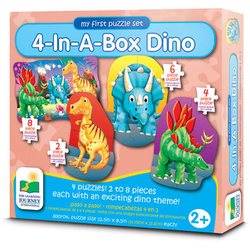 The Learning Journey Step Ups 4-In-A-Box Puzzle - Dino