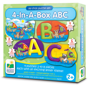 The Learning Journey Step Ups! 4-In-A-Box ABC