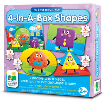 The Learning Journey Step Ups! 4-In-A-Box Shapes