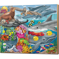 Learning Journey 709542 48 pc Lift Discover Jigsaw Puzzle-Creatures of the Sea