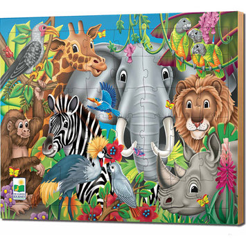Learning Journey 746226 48 pc Lift Discover Jigsaw Puzzle-Animals of the World