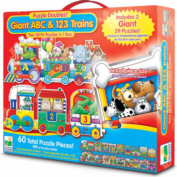 Learning Journey 854631 Puzzle Doubles Giant ABC & 123 Trains