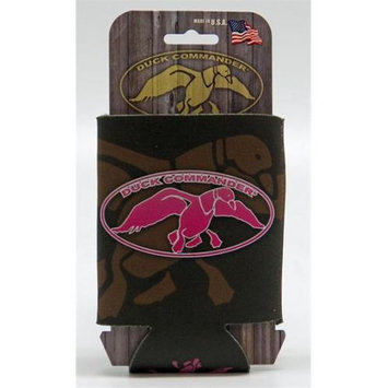 Fierce Products Duck Commander DC-CC-BP Can cooler Brown & Pink Logo