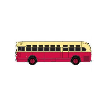 NYAHO GMC TDH3610 Bus, Red/Cream MWI32306 CLASSIC METAL WORKS
