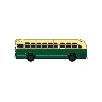 NYAHO GMC TDH3610 Bus, Green/Cream MWI32309 CLASSIC METAL WORKS