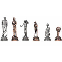 Wood Expressions WE Games Pewter Golf Chessmen - 3.08 in. King