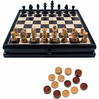 Wood Expressions Chess / Checkers Set in Black