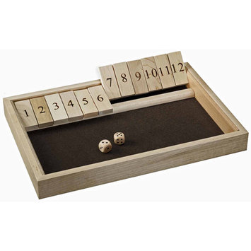 Wood Expressions Traditional Shut the Box Game